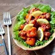♡給食で大人気♡鶏肉のレモン揚げ♡【#簡単#揚げない#再現レシピ#唐揚げ】