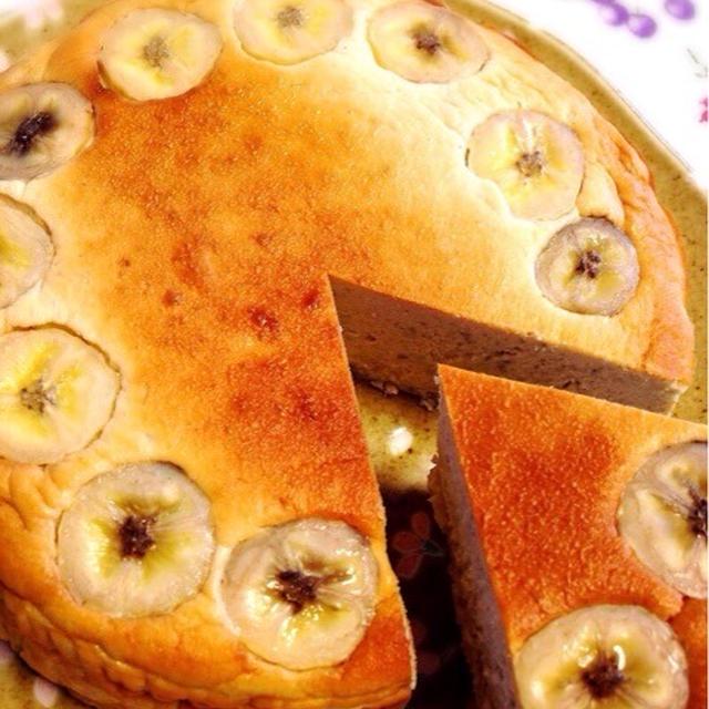 お砂糖なしのバナナチーズケーキ