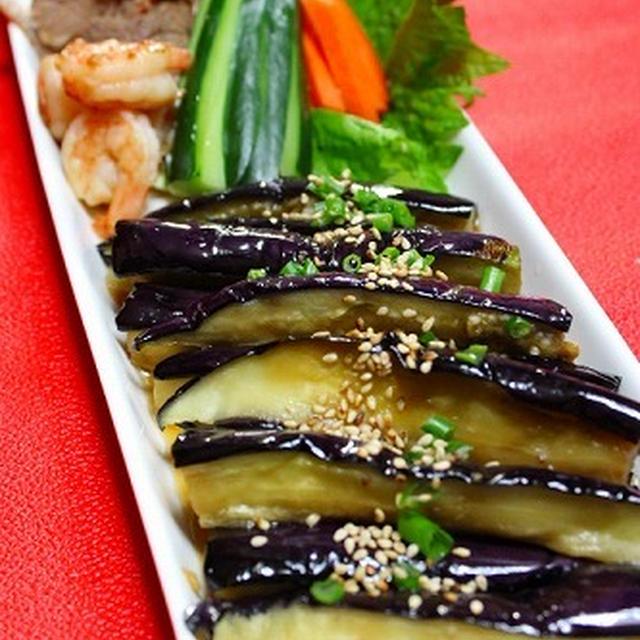 箸が止まらない茄子の韓国風