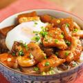 鶏むね肉の照り焼き丼 、 15分で作れる簡単温泉卵