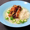 ブログ再開☆市販の鰻蒲焼で簡単、あっさり塩つゆぶっかけそうめん by 中村 有加利さん