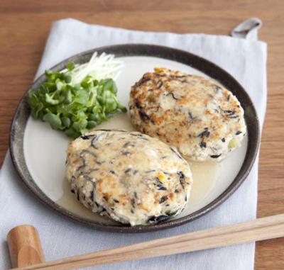 【つくりおきアレンジ】ひじきとコーンの豆腐ハンバーグ