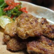 簡単!節約!カリッと豚肉のカレー風味ナゲット風