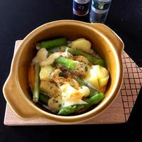 アスパラとジャガイモと卵のマヨネーズハーブグリル
