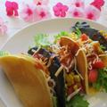 ホットミックス粉でお家で楽しむ節約レシピ♡簡単タコス♪(竹炭&プレーン)