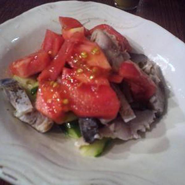 焼きサバサラダと醤油麹~