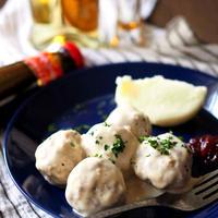 手軽な食材で本格的、北欧風ミートボール。