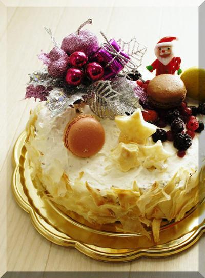 * クリスマスケーキ ★ 大きな切り株・ブッシュドノエル♪