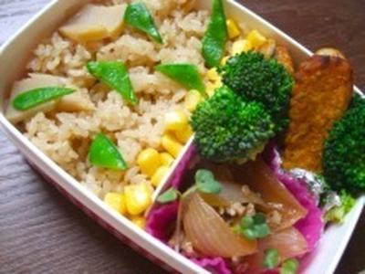 今日のお弁当・筍ご飯レシピ
