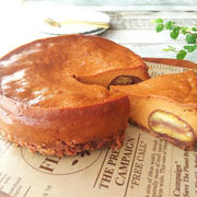 栗入り キャラメルチーズケーキ/リスの型抜きケーキ