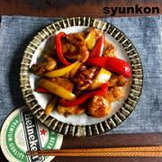 【簡単!!フライパン1つ】オススメ!しっとり鶏むね肉とパプリカの甘辛だれと、いろいろ