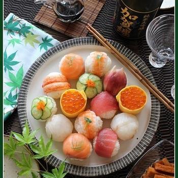手毬寿司♪で呑む