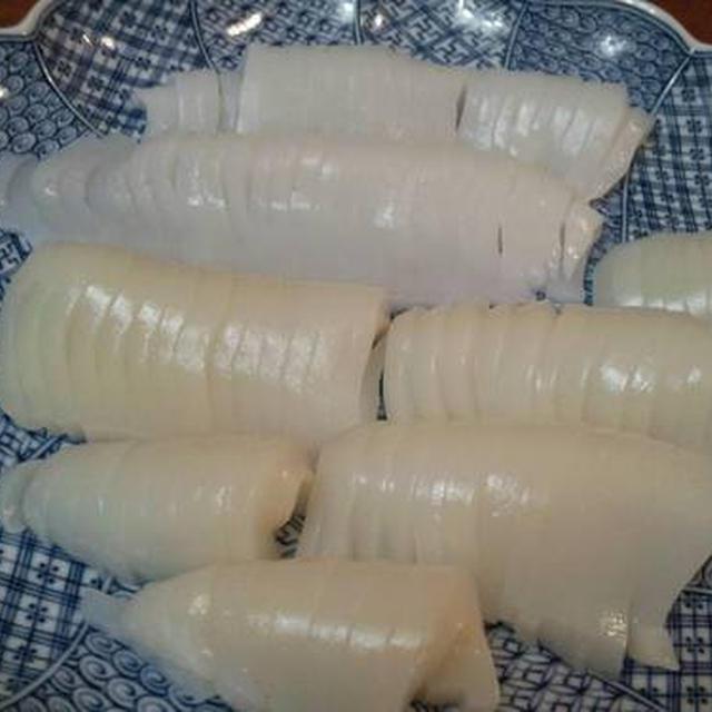 昨日の晩御飯、イカがいっぱい♪