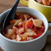 危機を乗り切る!体脂肪よ燃えろ!!燃焼系トマトスープ!と途中味変!そしておからパウダー