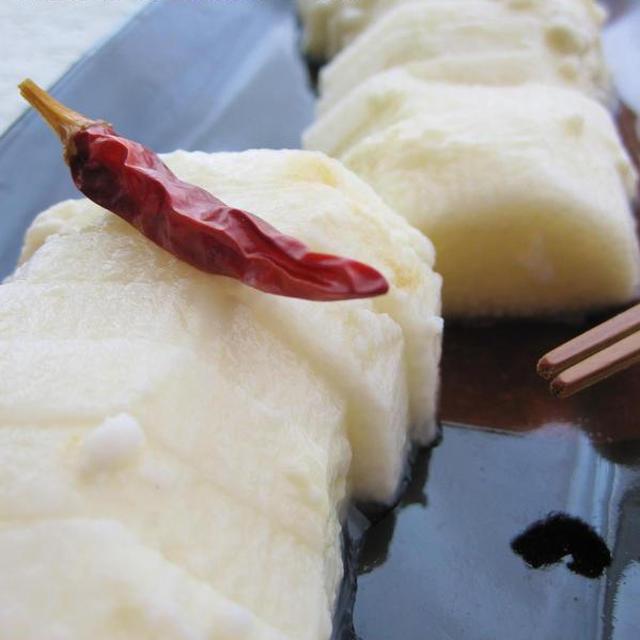 アンチエイジングおつまみ♪ 長芋のわさび塩麹漬け。