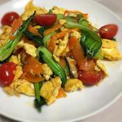 タイ風レッドカレー味の玉子野菜炒め