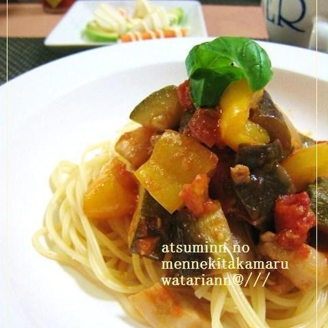 夏野菜たっぷりカポナータ風で数日アレンジ料理