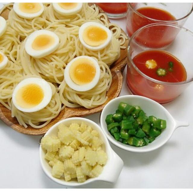 ピリ辛トマトつけスパゲティ