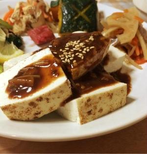 なめたけ味噌豆腐