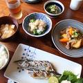 秋刀魚の塩焼き定食。