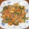 ゴーヤチャンプル&カレー麻婆豆腐