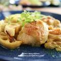 揉んで焼くだけ!鶏肉と蓮根のオーブン焼き(カレーマヨ味♡)