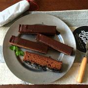 【簡単!!バレンタインに】新ジップロックバージョン*レンジで3層の生チョコケーキ