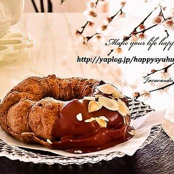 シューショコラ アーモンドとポチ報告2