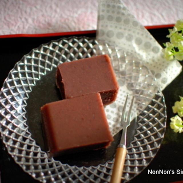 簡単♪水羊羹~Sweet Bean Paste Pudding with Agar Agar