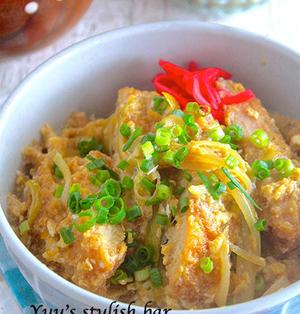 5分で楽ラク♪忙しい朝のお弁当作りにも♡『麺つゆ de ふわとろカツ丼』《簡単*節約*お弁当》