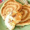 シナモンロール風パンケーキ:アイス添え