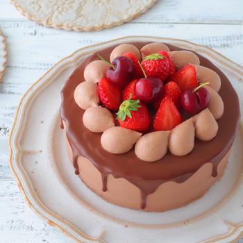最近ハマっているチョコレートケーキ