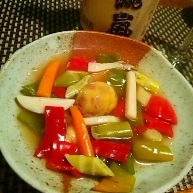高知秋の味覚、四方竹と四万十栗の中華餡と土佐酒のマリアージュ、、、からの、、、