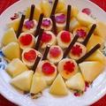 風を抱きしめて崎谷健次郎 /可愛く!林檎&バナナをポッキーと♪
