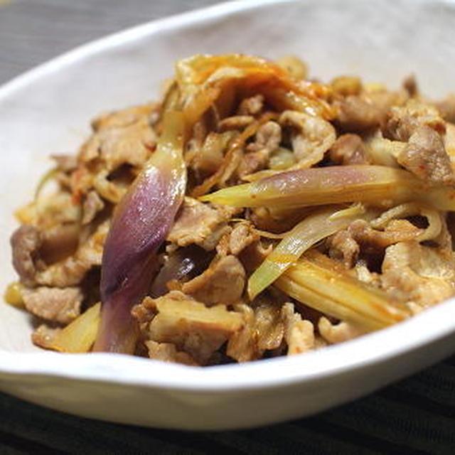 18/09/23 豚肉とみょうがのキムチ炒め