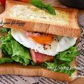 とろ~りチーズde目玉焼き☆サンドイッチ