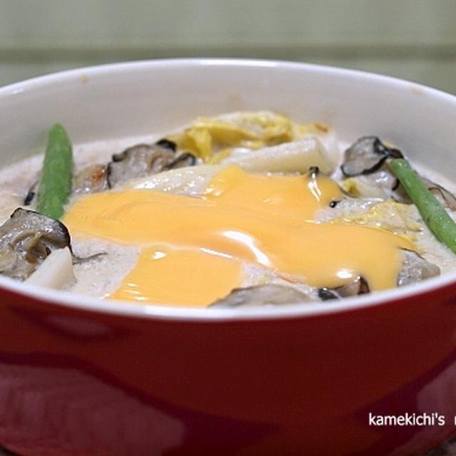牡蠣と白菜のクリーム煮と「娘の誕生日に食べたもの」
