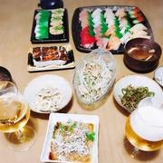 お寿司を囲んで週末ごはん