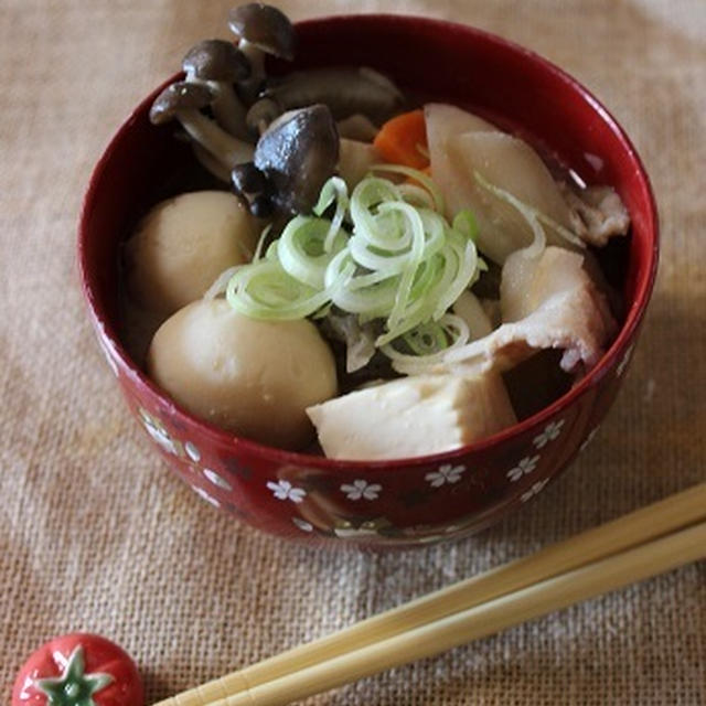風邪に効く♡きのこたっぷり生姜豚汁