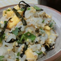 らっきょう酢とセロリの葉でさっぱり♪ ちらし寿司風混ぜご飯