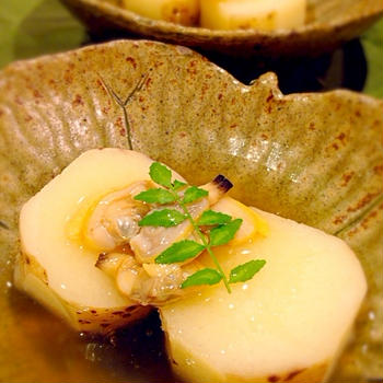 長芋の煮物 あさり餡かけ