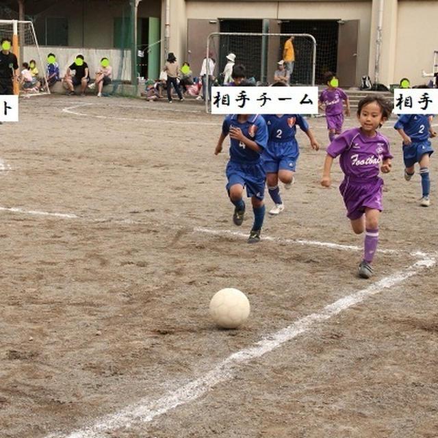 はる兄のサッカー試合。