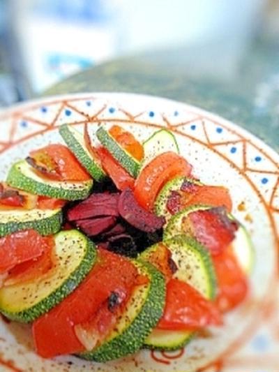 簡単★シンプル★ズッキーニとトマトの重ね焼き