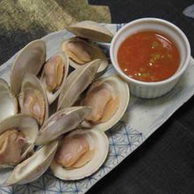 貝類のカクテルソース