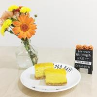 ハロウィンスイーツ 2種類の食べ方が楽しめるパンプキンチーズケーキ