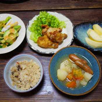 ソーセージと根菜のスープ