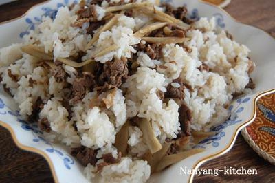 ビリヤニ寿司(スパイスを使った牛肉寿司)