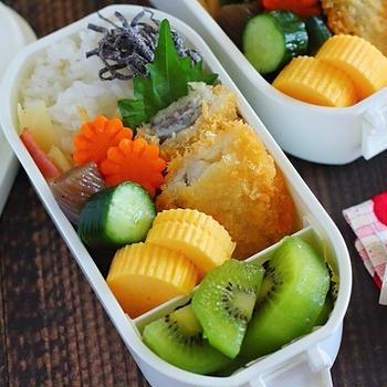 白身魚フライと作りおきで簡単弁当