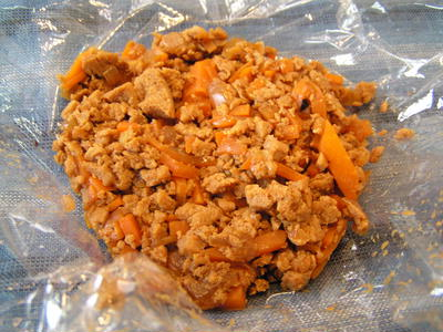 作り置き常備菜、高野豆腐のand小豆のエスニックペースト