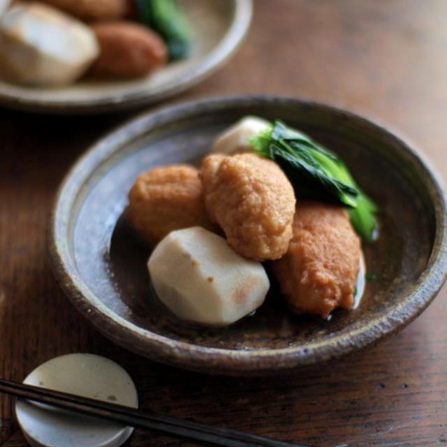 海老と蓮根の揚げ真薯含め煮。
